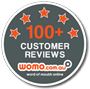 WOMO '100 Customer Reviews' Badge