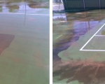 Tennis Court Cleaning - Before & After
